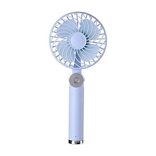 - Marching orchid New Handheld Fan, Outdoor Portable Mini Fan Desktop Rechargeable Encryption Net Cover Rotating Folding Fan (Color : Blue)