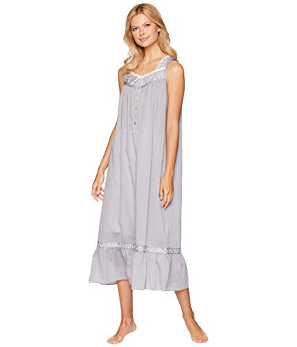Eileen West Women's Chambray Ballet Nightgown Charcoal Small