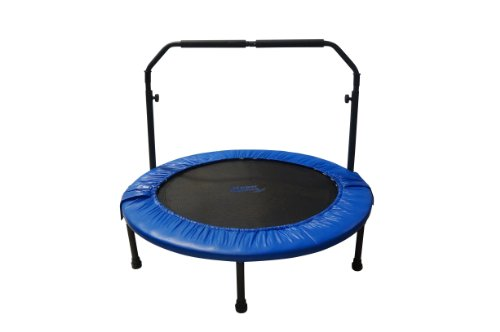 Upper Bounce 48-Inch Mini Indoor/Outdoor Foldable Trampoline with Adjustable Handrail