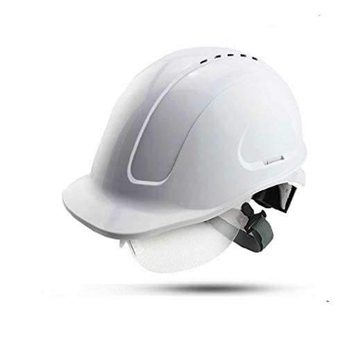 Helmet Construction Safety Helmet-ABS High-Voltage Insulation Belt Goggles/Construction Site Collision/Electrician/Miner Safety Helmet (Color : White)