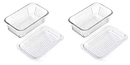 Gemco 5078594 Multi Function Butter Dish Clear Lifetime Brands
