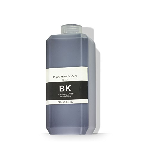 Pigment Ink Refill Bottles (OfficeSmartInk Refill Ink Canon Compatible Black Pigment Ink 500ML (16.91 fl oz) Bottle - 1PK)