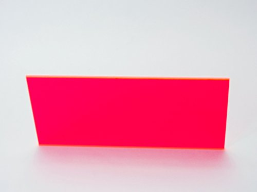 Falken Design FLUOR-RD/PK9095-1-8/1212 Acrylic Fluorescent Red Pink Sheet, Transparent 34%, 12