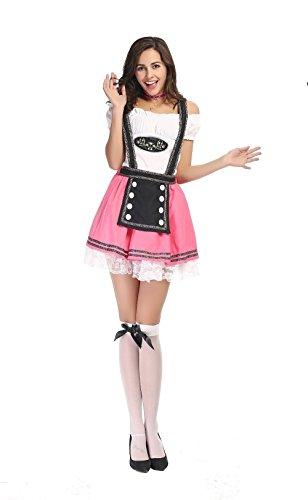 Deluxe Beer Wench Costume (Halloween Deluxe German Oktoberfest Cute Beer Girl Costume)