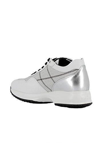 Baskets Cuir Hogan Argent HXW00N0K010J180906 Femme Blanc wzxpxqUX