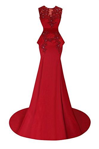 Beaded Formal Mermaid Dresses Appliques Women's Blue Bess Sky Prom Bridal C1qOnpwxt