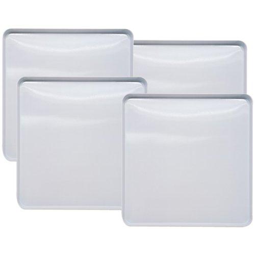 Range Kleen 563 White Square Burner Cover, 9.5 Inches, Set o