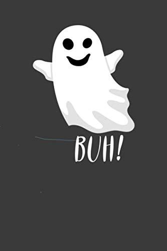 BUH!: Liniertes DinA 5 Notizbuch für Halloween Grusel-Fans