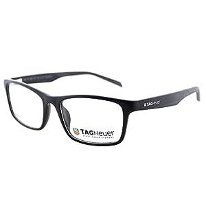TAG Heuer B-URBAN 0555 C-001 Matte Black Dark Grey Plastic Unisex Eyeglasses