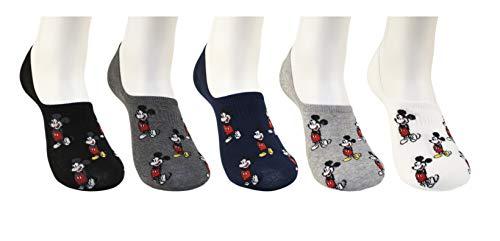 (Kikiya Socks Mickey Mouse Pattern Character 5 Pairs Fashion No Show Socks)