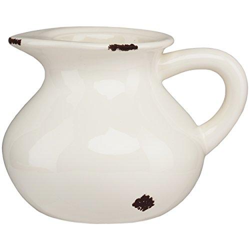 PRINZ 5'' Farmhouse White Ceramic Pitcher by PRINZ