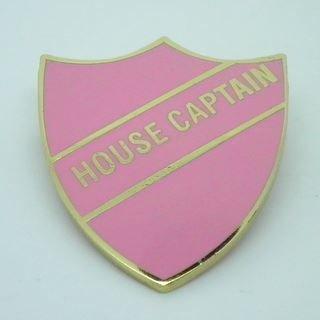 House Captain Enamel School Shield Badge - Pink - Pack of 10