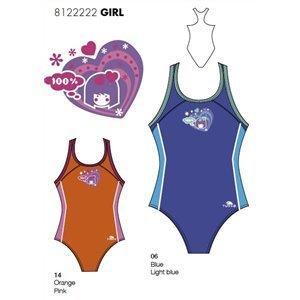 Turbo Olimpic - Bañador de natación y waterpolo para niña, talla 4 años, color naranja: Amazon.es: Deportes y aire libre