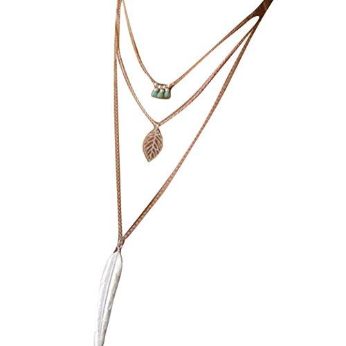 Mother's Day Gift, Muranba Women Multilayer Irregular Crystal Gold Pendant Chain Statement Necklace Women Multilayer Irregular Crystal Gold Pendant Chain Necklace (Gold 2) Flowers Multi Strand Necklace