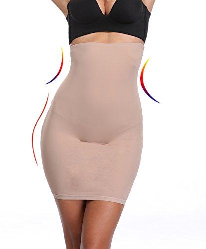 Half Slips for Women Under Dress Butt Lift Shapewear Tummy Control Waist Trainer Body Shaper(Beige,L) by Joyshaper
