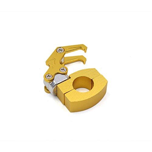 uxcell a17022700ux0901 Aluminum Alloy Universal Motorbike Carry Hook Bag Holder Hanger Gold Tone ()