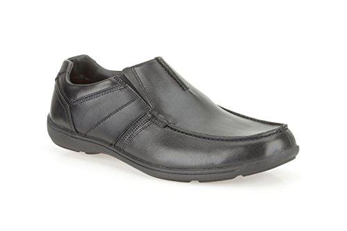 Clarks Herren-Slipper Wohnungen Schuhe Bradley Fall Schwarz Leder