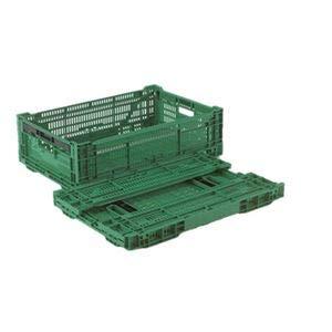 【5個セット】 折りたたみコンテナー/オリコン 【RS-MM33S】 グリーン 材質:PP ワンタッチ組立【代引不可】 B07PJPHXZR