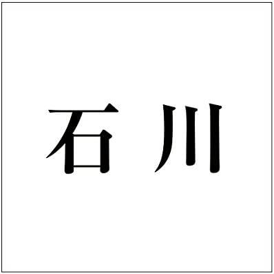 切文字 カッティングシート 明朝文字 ブラック 100×100mm表札板用 石川 オーダーメイド 納期8営業日