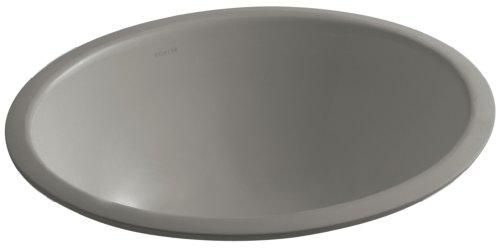 KOHLER K-2205-G-K4 Caxton Undercounter Bathroom Sink with Glazed Underside, 17