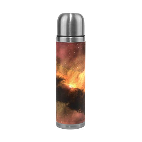 FeiHuang Solar System Stainless Steel Leak-Proof Vacuum Insulated Flask Pot Sport Double Wall Water Bottle Leather Thermo Jug by FeiHuang