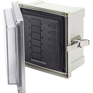 Blue Sea 3113 SMS Surface Mount System Panel Enclosure - 6 Circuit Blank