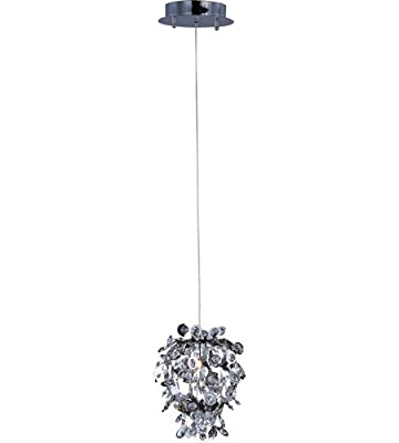 Maxim 94200BCPC Comet 1-Light Mini Pendant, Polished Chrome Finish, Beveled Crystal Glass, G9 Xenon Xenon Bulb , 100W Max., Wet Safety Rating, Standard Dimmable, Glass Shade Material, 1150 Rated Lumens