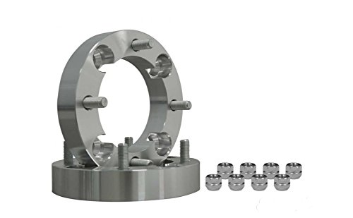 SuperATV Heavy Duty 1.5'' Aluminum Wheel Spacers for Yamaha Viking/Wolverine/YXZ - 4/110 Bolt Pattern (1 Pair) (Spacers Aluminum Wheel)