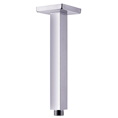 SR SUN RISE ARY002 Shower Arm Square 7.9 Inch 200mm Ceiling Mounted Arm of Solid Brass Chrome Finish