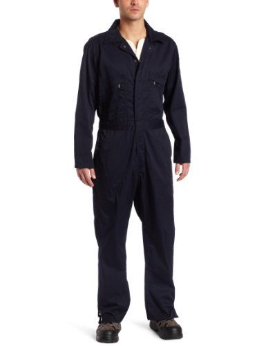 Key Apparel Men's Deluxe Unlined Long Sleeve Coverall, Navy, Small-Short]()