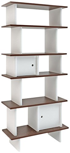 Oeuf Vertical Mini Library - Walnut (Box 2), White by Oeuf