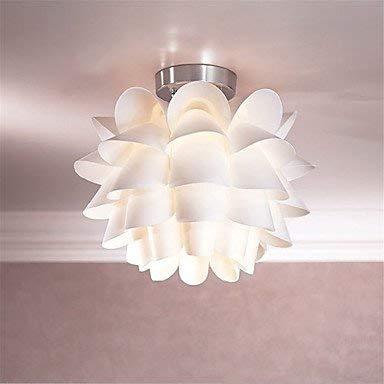 Moderne weiße Lotus Deckenleuchte Warm Creative Kronleuchter PVC Anhänger Lampenschirm Decke Raum Dekoration Lightshade für Esszimmer Wohnzimmer Schlafzimmer Küche Weihnachten Party Lampe