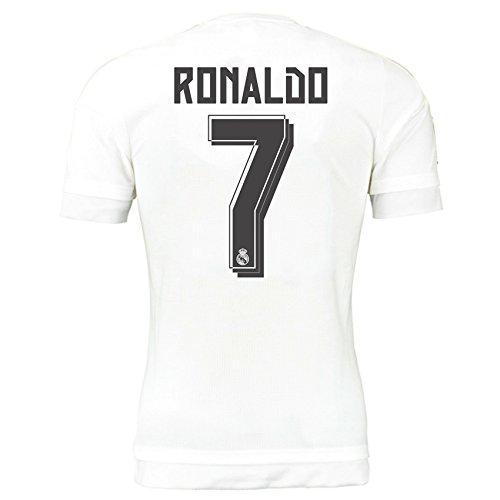 セールスマン政治的無傷2015-16 Real Madrid Home Shirt (Ronaldo 7) - Kids
