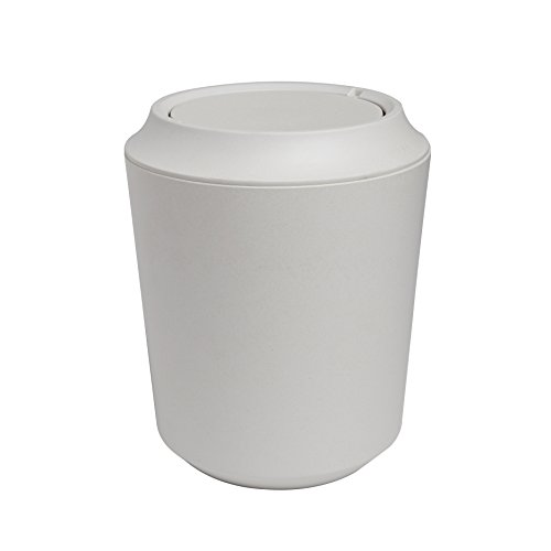Umbra touch waste can with lid white sales up - Umbra mini trash can ...