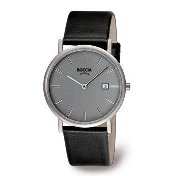 3547-01 Mens Boccia Titanium Watch, Grey Dial