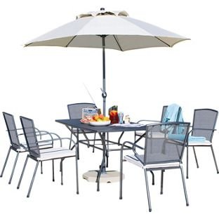 Miami 6 Seater Mesh Patio Furniture Set.