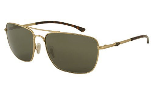 Smith Sunglasses - Nomad / Frame: Matte Gold Lens: Polarized Green ChromaPop Polarchromic