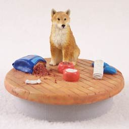 Conversation Concepts Miniature Shiba Inu Candle Topper Tiny One ''A Day at Home'' by Conversation Concepts