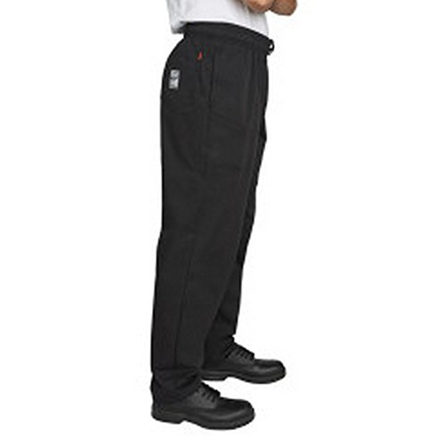 Denny's Mens Executive Chef Trousers (XL) (Jet Black) by Denny's