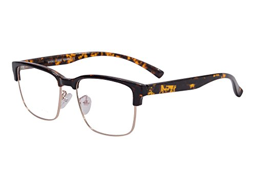 SHINU Vintage Clubmaster Eyeglasses Frame Horn Rimmed Anti Blue Light Computer - For Computer Glasses Filter