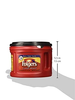 Folgers Classic Roast Ground Coffee, 22.6-Ounce (Pack of 3)