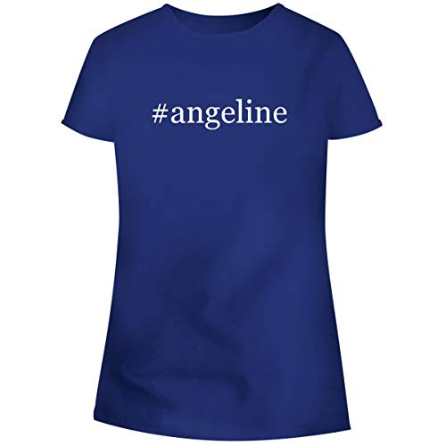 One Legging it Around #Angeline - Hashtag Women's Soft Junior Cut Adult Tee T-Shirt, Blue, XXX-Large