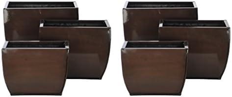 Gloss Brown 509 Zinc Vase 3 Sizes – Set of 6 vases