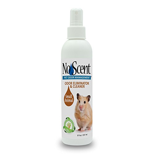 No Scent Small Animal - Professional Pet Waste Odor Eliminator & Cleaner - Safe All Natural Probiotic & Enzyme Formula Smell Remover for Hutches Tanks Enclosures Bedding Toys and Surfaces - Animal Scents