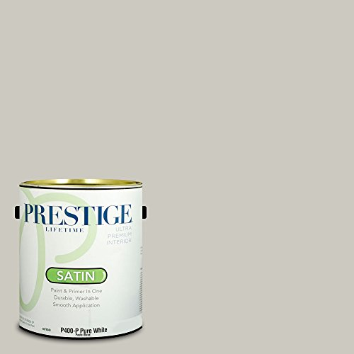 Prestige Paints Interior Paint And Primer In One  1 Gallon  Satin   Comparable Match Of Sherwin Williams Repose Gray