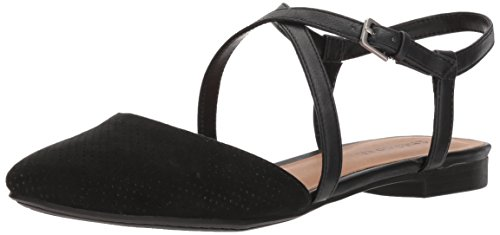 Indigo Rd. Women's Genetic Ballet Flat, Black, 7.5 M US from Indigo Rd.