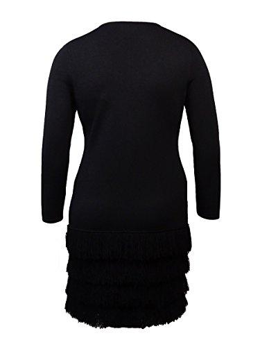 Klein Robe Fourreau Calvin Tricot Frange De Poils Longs Bordure En Noir Pour Les Femmes