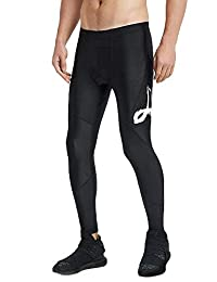 LAFROI Men's UPF 50+ Baselayer Quick Dry Cool Compression Tights Pants Leggings