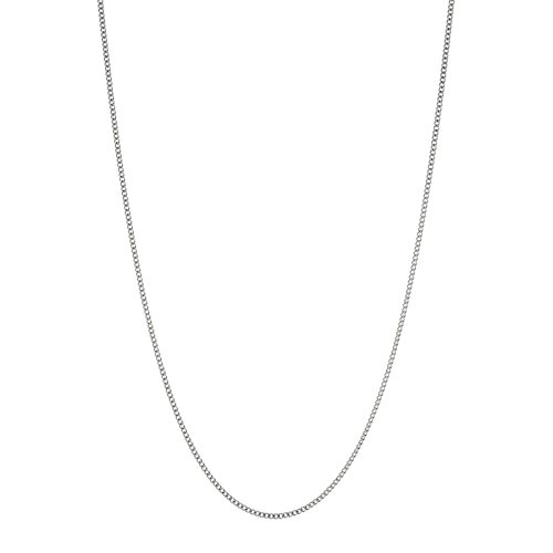 Men's Women's Thin 2mm Curb Chain Stainless Steel Necklace, Choose from 18-40 inches (20 Inches)