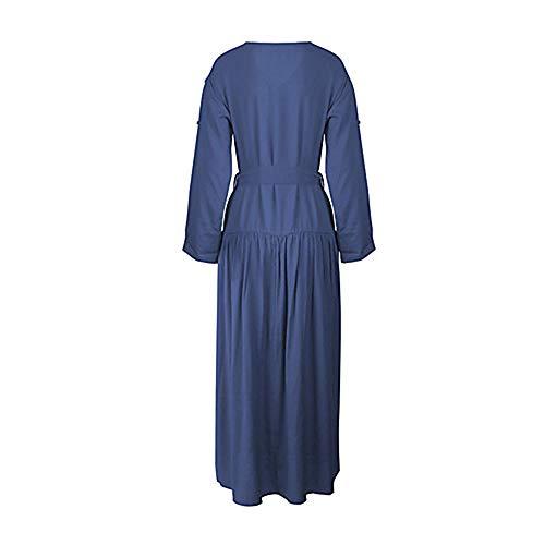 TTSKIRT Maxi Navyblue S Un Vestido Mujer Básico Vaina Color SYSqrw